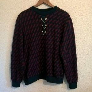 Vintage Alfred Dunner Long Sleeve Shirt Medium
